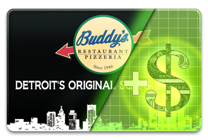 Add Value to your Buddy's Pizza Gift Card